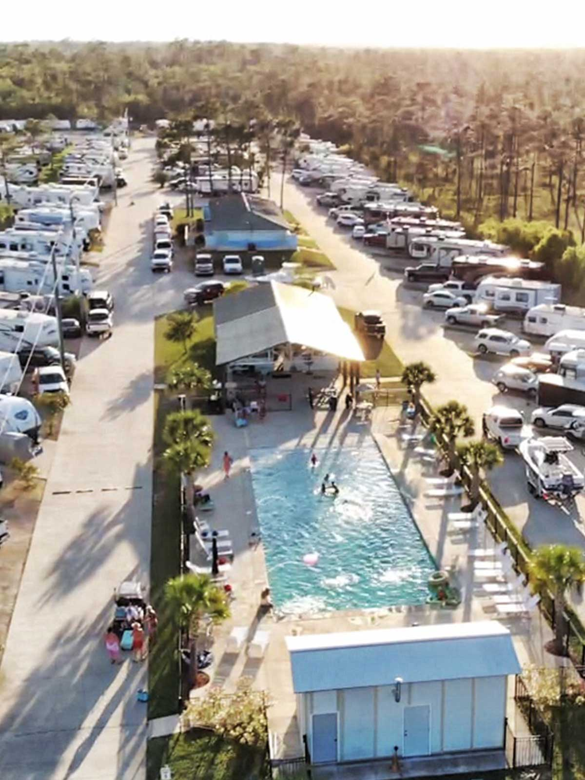 Dauphin Island arial view of Bay Palms RV park