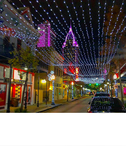Dauphin Street in Downtown Mobile, al